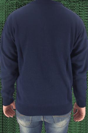 Blusa Masculina  Passion Tricot Jacar Escocesa Marinho