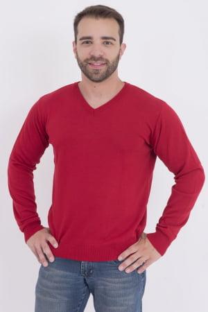 Blusa Masculina Básica Passion Tricot Fully Vermelha